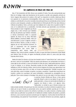 72º Cumpleaños Bruce Lee