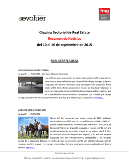 Clipping Sectorial de Real Estate Resumen de Noticias del 10 al 16