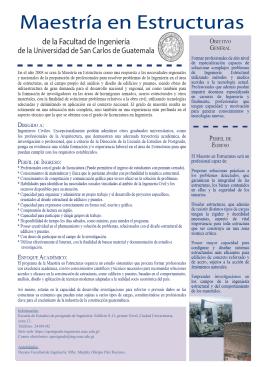 Maestría en Estructuras - EEP :: Ingeniería USAC