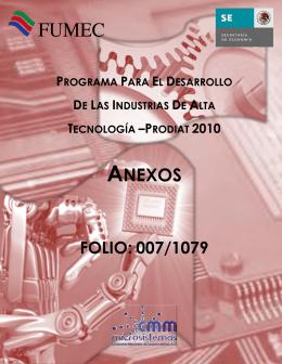 ANEXOS - Secretaría de Economía