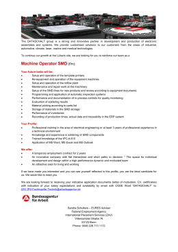Machine Operator SMD (f/m)