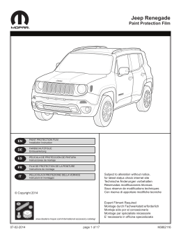 Jeep Renegade - Mopar International Accessories Catalog