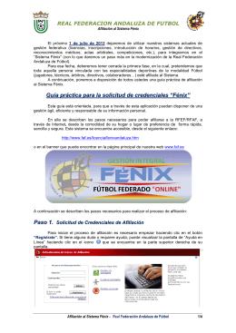 """Guía práctica p Paso 1. para la solicitud de credenciales """" """"Fénix"""""""