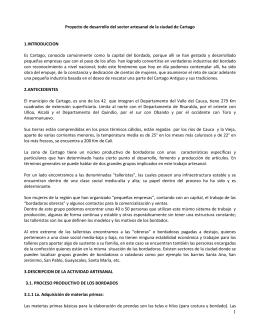 Proyecto de desarrollo del sector artesanal de la ciudad de Cartago