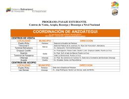 COORDINACIÓN DE ANZOÁTEGUI