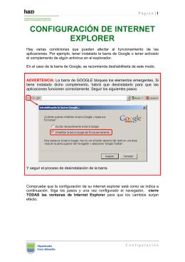 CONFIGURACIÓN DE INTERNET EXPLORER