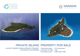 PRIVATE ISLAND PROPERTY FOR SALE