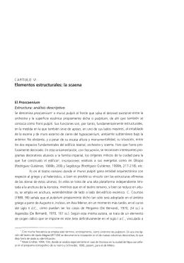 Elementos estructurales: la scaena