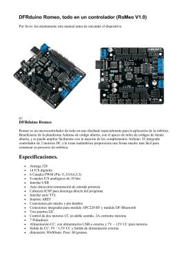 DFRduino Romeo, todo en un controlador (SKU: DFR0004)