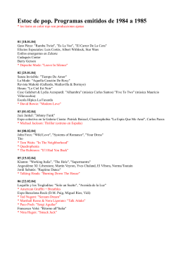 Ficha con todos los programas emitidos