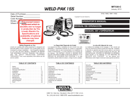 WELD-PAK 155 - Lincoln Electric