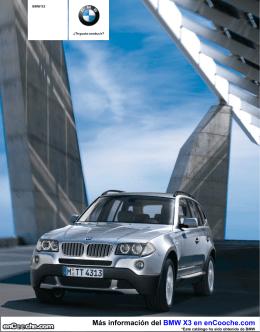 Catálogo del BMW X3