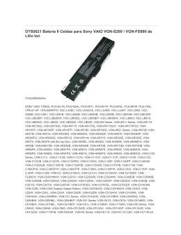 OTS0021 Bateria 6 Celdas para Sony VAIO VGN-S260