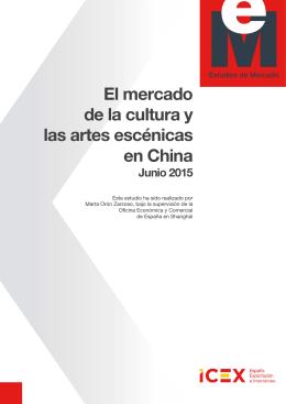 Estudio de Mercado - El mercado de la cultura y las artes escénicas
