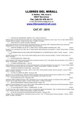 CAT. 07-2015 PDF - Llibres del Mirall