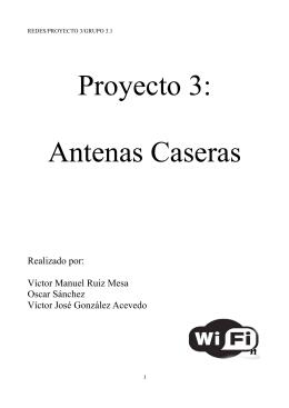 Proyecto 3: Antenas Caseras