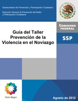 Guía del Taller Prevención de la Violencia en el Noviazgo