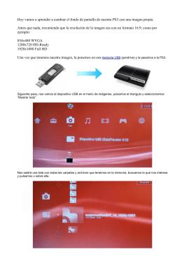 Cambiar fondo de la PS3