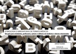 ETIMOLOGIA E ABREVIATURAS DE TERMOS MÉDICOS