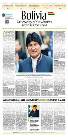 The country of Evo Morales surprises the world