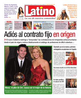 2012-01-13 Periodico Latino Interview with Letizia