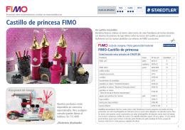 Castillo de princesa FIMO