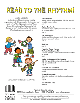 COR flyer - Solano County Library