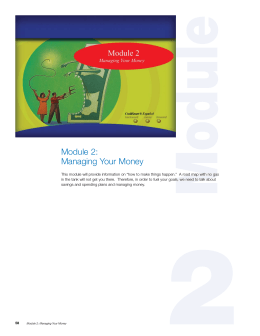 Module 2: Managing Your Money