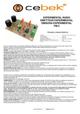 experimental radio emetteur experimental emisora experimental fm-2