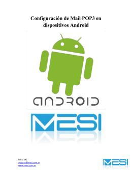 Configuración de Mail POP3 en dispositivos Android