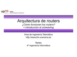 Diseño de red - Área de Ingeniería Telemática