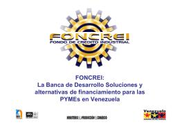 FONCREI: La Banca de Desarrollo Soluciones y