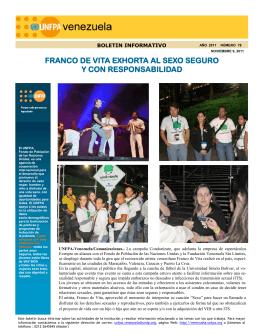 FRANCO DE VITA EXHORTA AL SEXO SEGURO Y CON