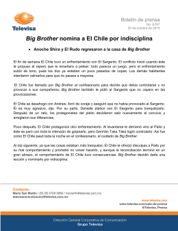 Big Brother nomina a El Chile por indisciplina