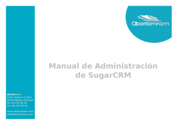Manual de Administración de SugarCRM