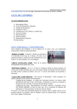 GUÍA DE LONDRES - Juventud Briviesca