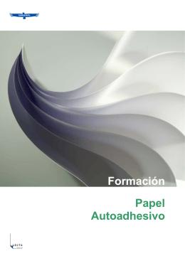 Formación Papel Autoadhesivo