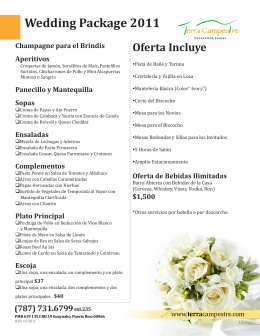 Wedding Package 2011