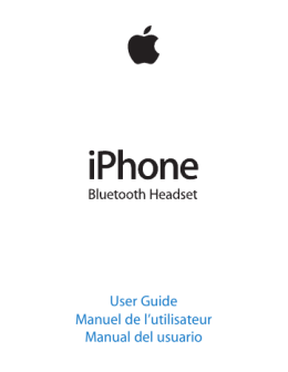 iPhone Bluetooth Headset Manual del usuario