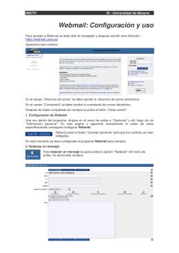 Webmail: Configuración y uso