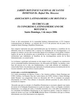 JARDÍN BOTÁNICO NACIONAL DE SANTO DOMINGO Dr. Rafael