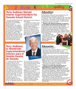 Terry Andrews es Nombrado Superintendente Interino para el