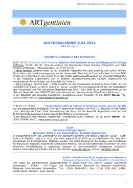 Kulturkalender Juli 2012