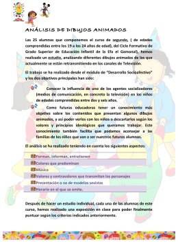 ANÁLISIS DE DIBUJOS ANIMADOS