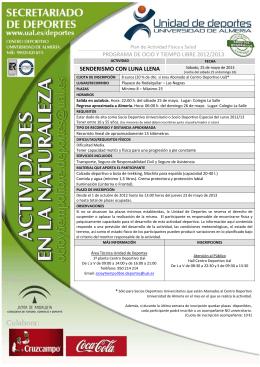 Senderismo Luna Llena - Universidad de Almería