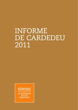 INFORME DE CARDEDEU 2011 - Síndic de Greuges de Catalunya