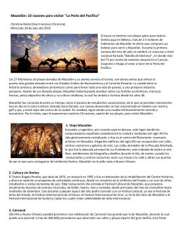 """Mazatlán: 10 razones para visitar """"La Perla del Pacífico"""""""