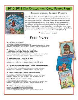 — EARLY READER — - Cinco Puntos Press