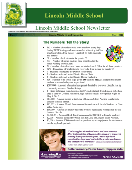 Lincoln Middle School - Poudre School District