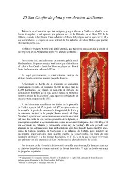 El San Onofre de plata y sus devotos sicilianos
